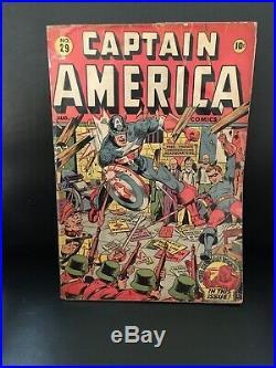 Rare Timely Captain America No. 29 Golden Age Comic 1943