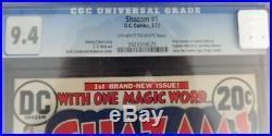 SHAZAM #1 CGC 9.4 OWW DC Comics 2/73 1st Captain Marvel & Jr. Since Golden Age