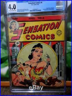Sensation Comics #4 Cgc 4.0 Golden Age Wonder Woman Movie Soon