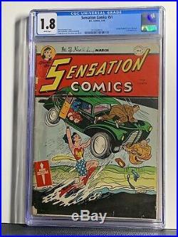 Sensation Comics 51 CGC Wonder Woman Golden Age Action #1 Homage Cover White Pgs
