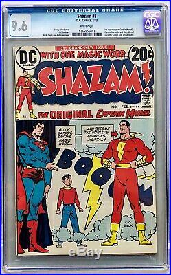 Shazam #1 CGC 9.6 White Pages 1st Captain Marvel since Golden Age Movie