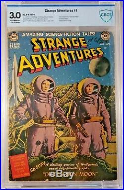 Strange Adventures 1 3.0 CBCS Destination Moon Rare Not CGC Golden Age Sci-Fi