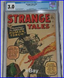 Strange Tales 101 CGC 3.0 C-OW 1st Solo Human Torch since Golden Age