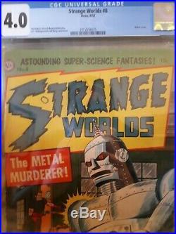 Strange Worlds 8! CGC 4.0! Golden Age Sci-Fi at it's Finest! Atom Age Rarity