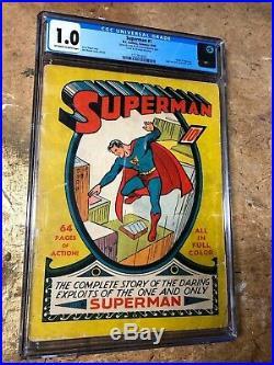 Superman #1 CGC 1.0 Blue Label 1939 Golden Age Comic