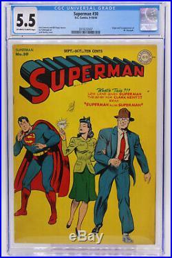 Superman # 30 CGC 5.5 Origin and 1st appearance of Mr. Mxyztplk Golden Age DC