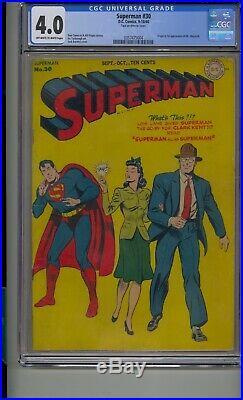 Superman #30 Cgc 4.0 1st Mr. Mxyztplk Bill Finger Golden Age