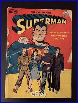 Superman Comics #29 1944 DC Golden Age Servicemen Edition