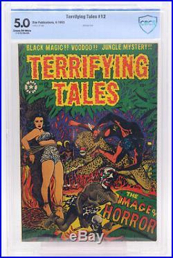 Terrifying Tales # 12 CBCS 5.0 Bondage cover L. B. Cole cover Star Golden Age