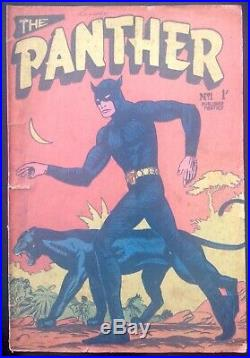 The Panther # 1 Australian Drawn Golden Age Comic