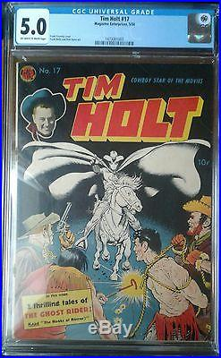 Tim Holt #17 Cgc 5.0 Frank Frazetta Ghost Rider Cover 1950 Golden Age