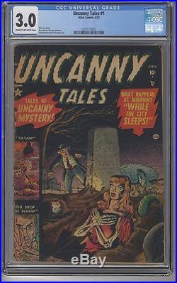 UNCANNY TALES #1 CGC 3.0 Marvel Pre-Code Horror Golden Age