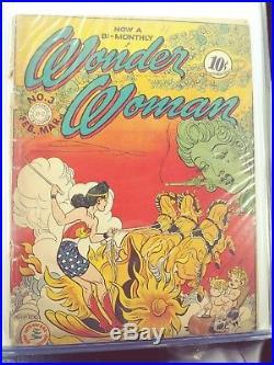 WONDER WOMAN #3 Sensation Comics 23 26 48 49 Rare Golden age lot HTF DC
