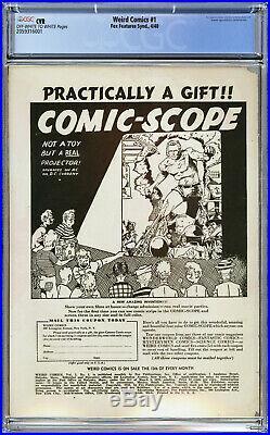 Weird Comics #1 (1940) CGC CVR Golden Age Fox Features Syndicate