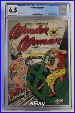 Wonder Woman #11 CGC 6.5 FN+ DC 1944 A Hypnota App Golden Age Comic
