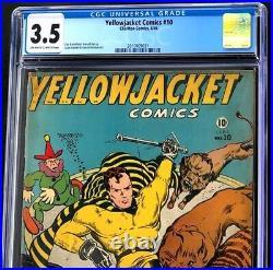 Yellowjacket Comics #10 (Charlton 1946) CGC 3.5 Rare Golden Age Comic